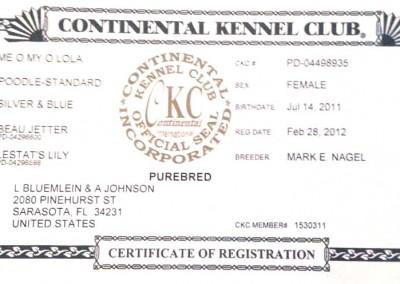 Me O My Lola Certificate